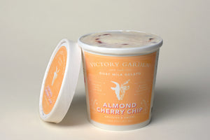 Almond Cherry Chip Goat Milk Gelato