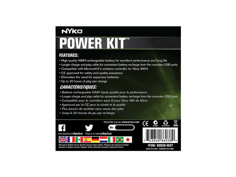 Power Kit for Xbox 360 - box back