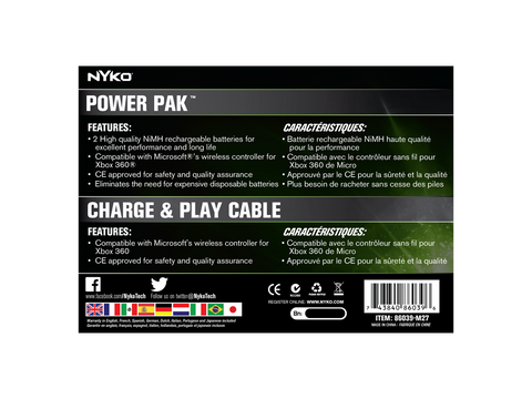 Power Kit Plus for Xbox 360 - box back