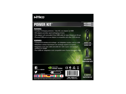 Power Kit for Nvidia Shield - box back