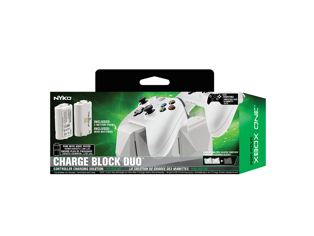 Charge Block Duo White For Xbox One Nyko Technologies