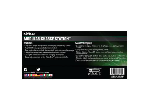 Modular Charge Station for Xbox One - box back