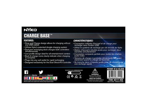Charge Base for PS3 - box back