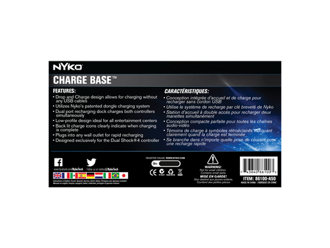 Charge Base for PS4 - box back