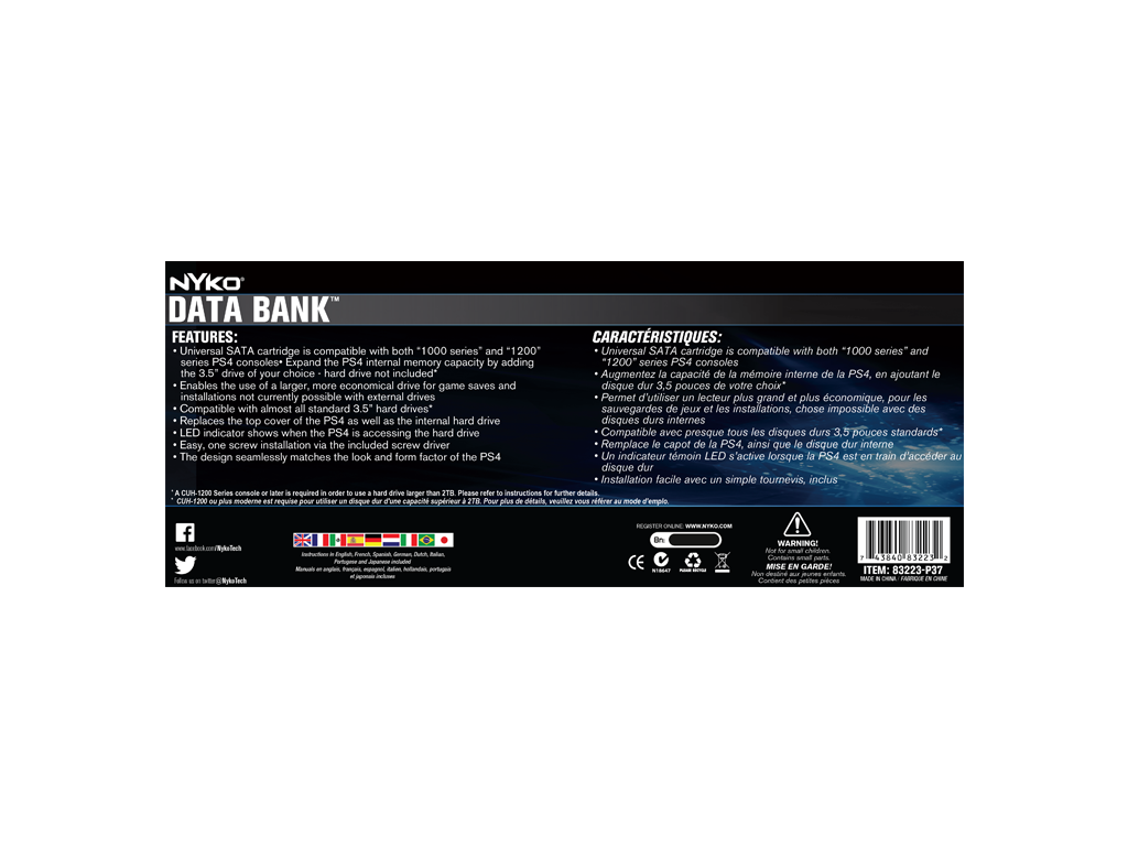 Data Bank for PlayStation®4 – Nyko Technologies