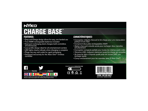 Charge Base for Xbox One - box back
