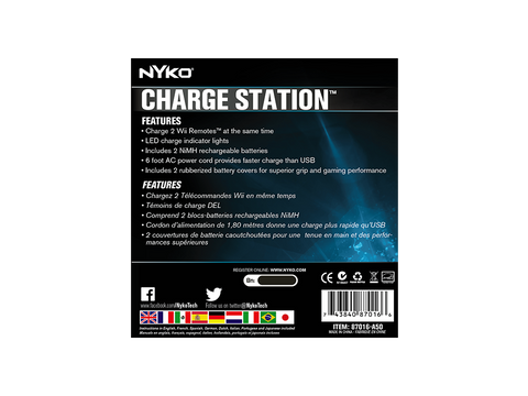 Charge Station for Wii - box back