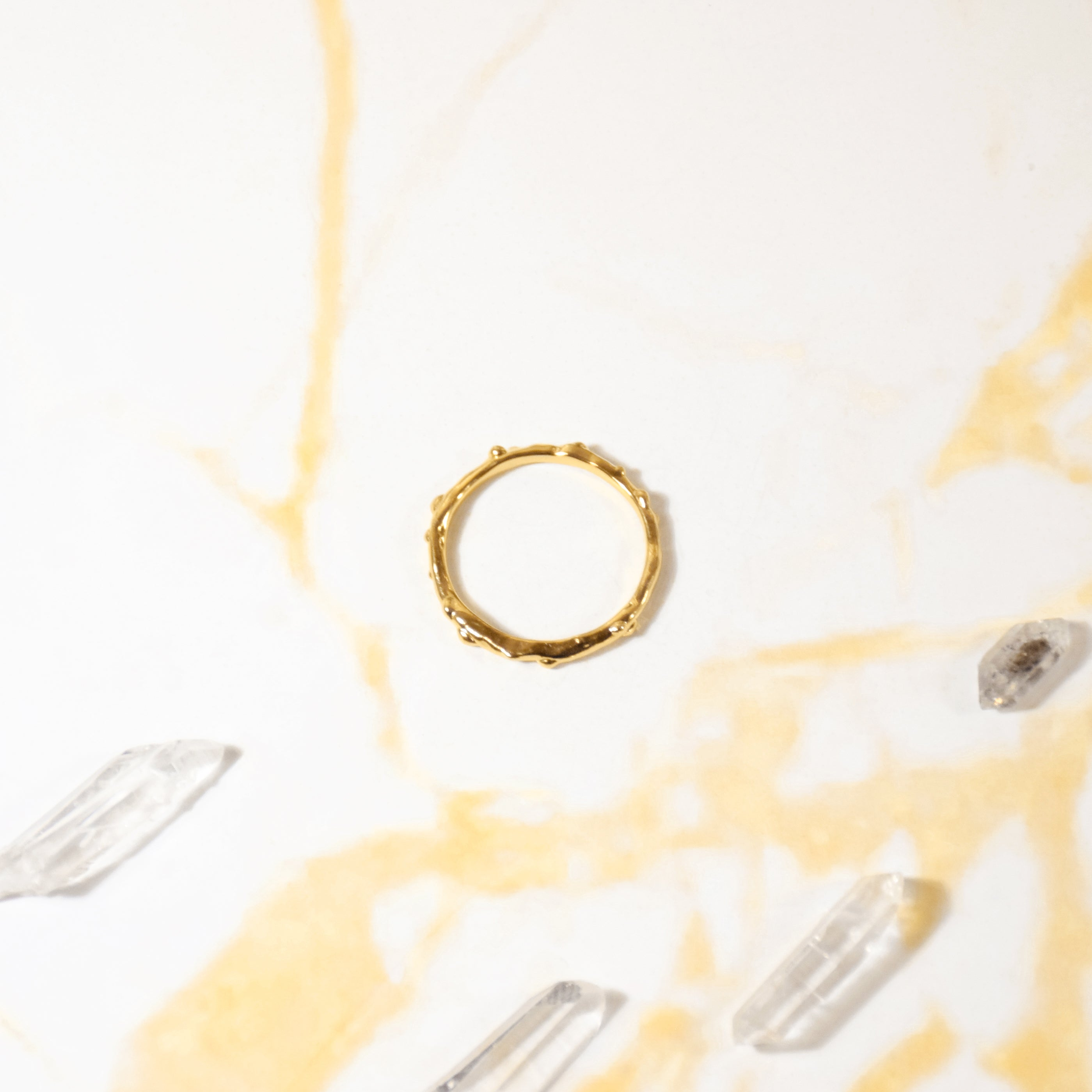 Simple Rain Ring - Gold