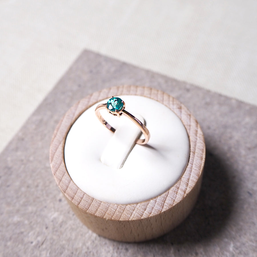 Beth Ring - Blue Green Apatite