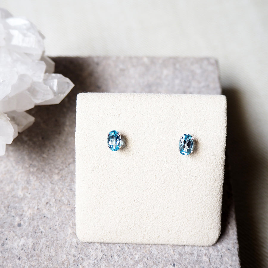 Vera Earrings - Blue Topaz
