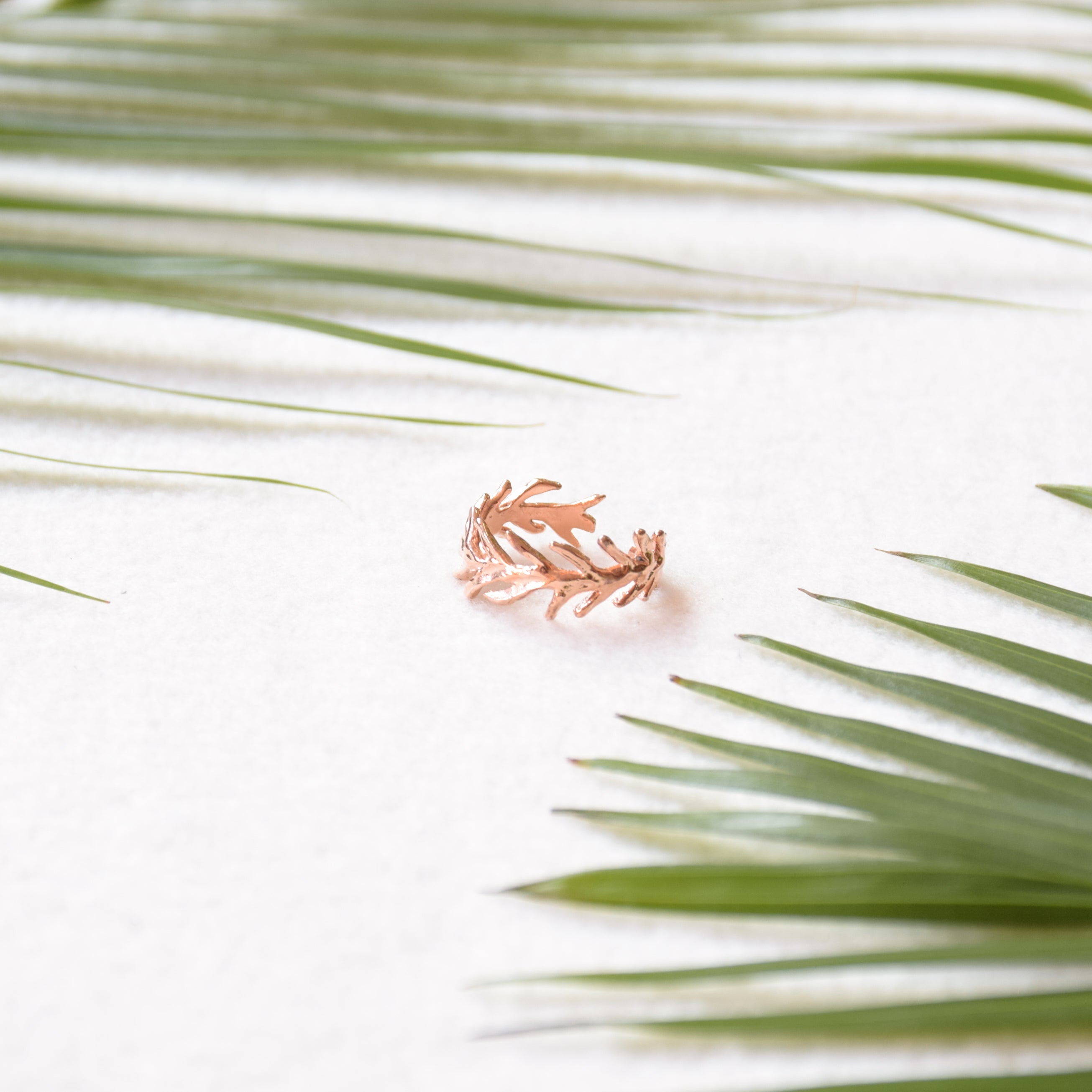 Palm Leaf Ring - Rose Gold (BACKORDER)