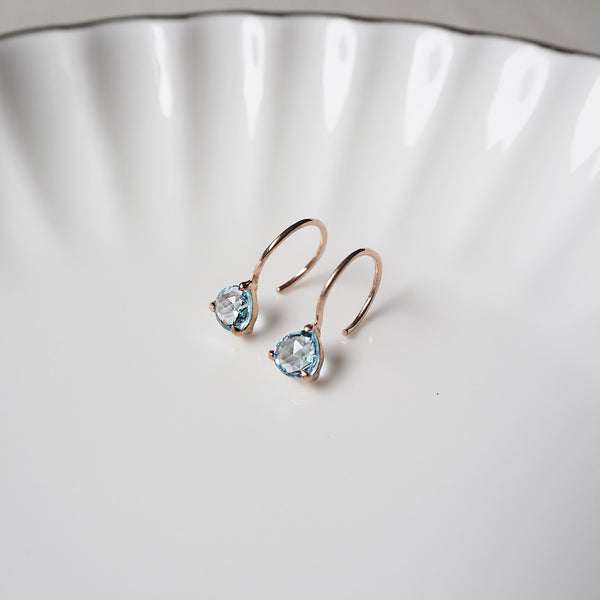 Isa Earrings - Blue Topaz