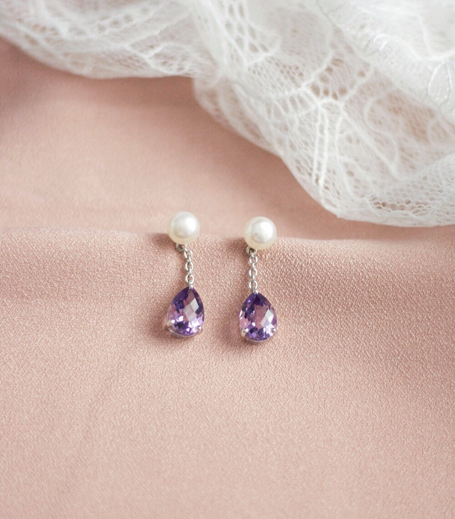 Grace Earrings - Pink Amethyst in 925Silver