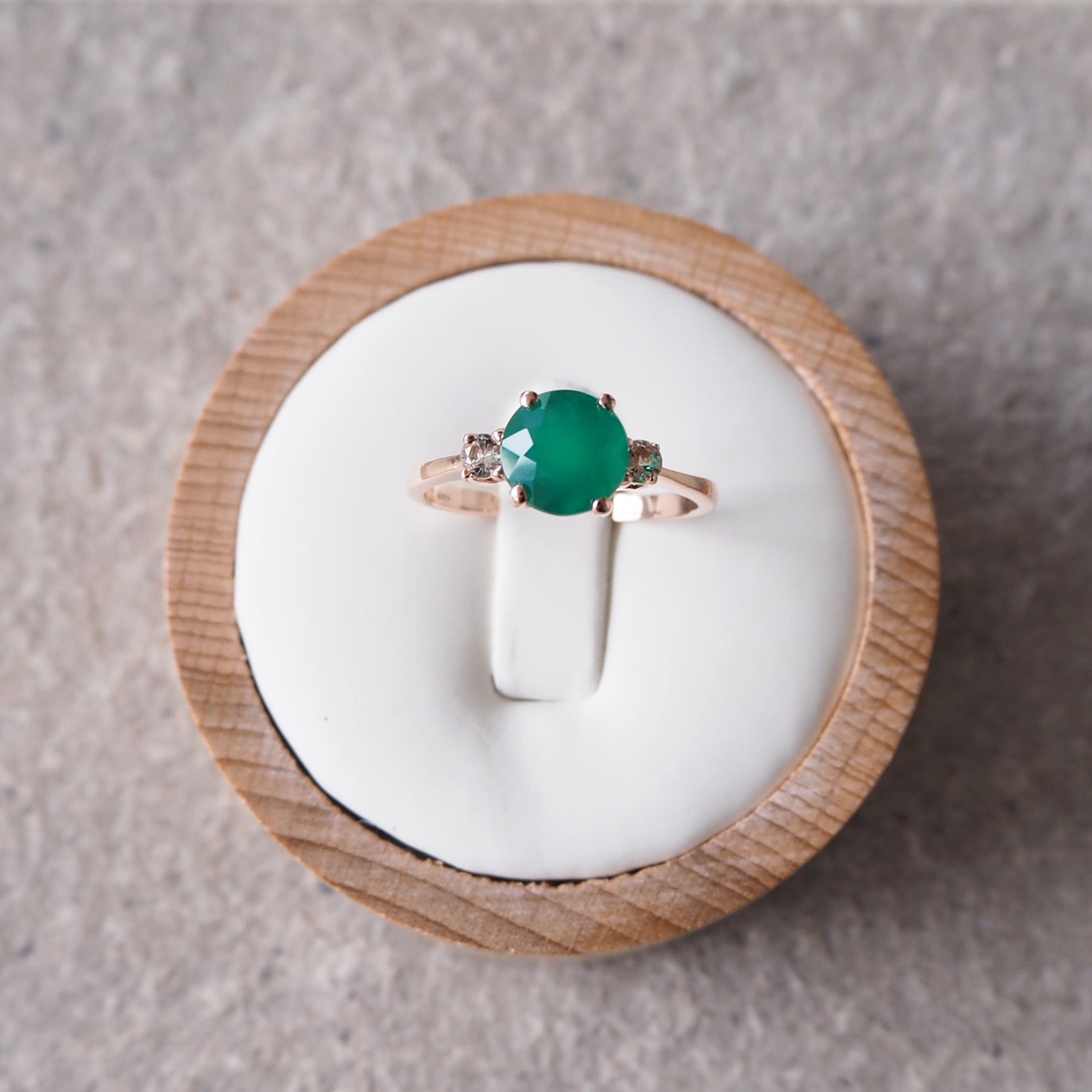 Scarlett Ring - Green Onyx