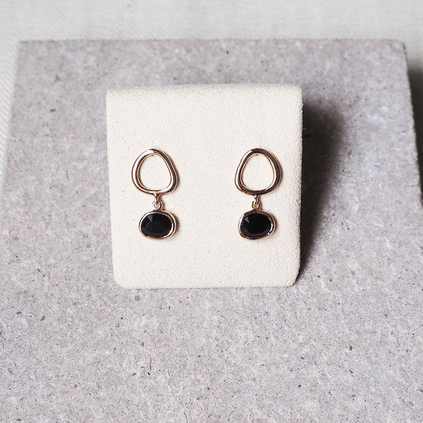 Hailey Earrings - Black Onyx
