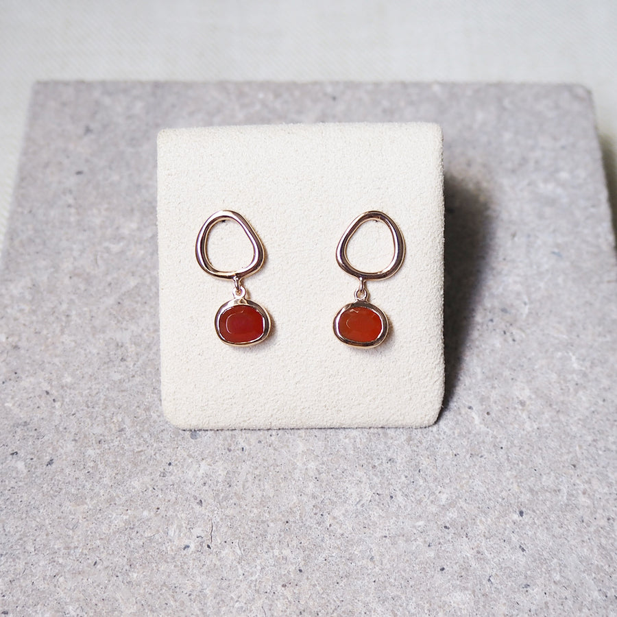 Hailey Earrings - Red Onyx