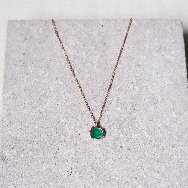 Hailey Pendant - Green Onyx