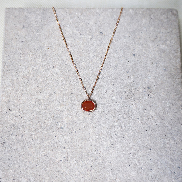 Hailey Pendant - Red Onyx