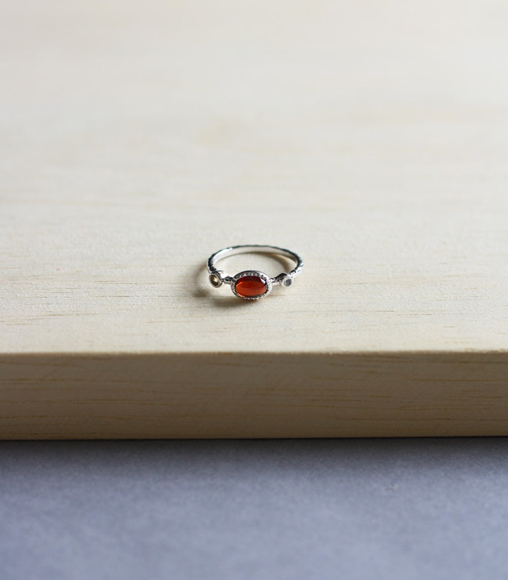 Claire Ring - Garnet in Silver