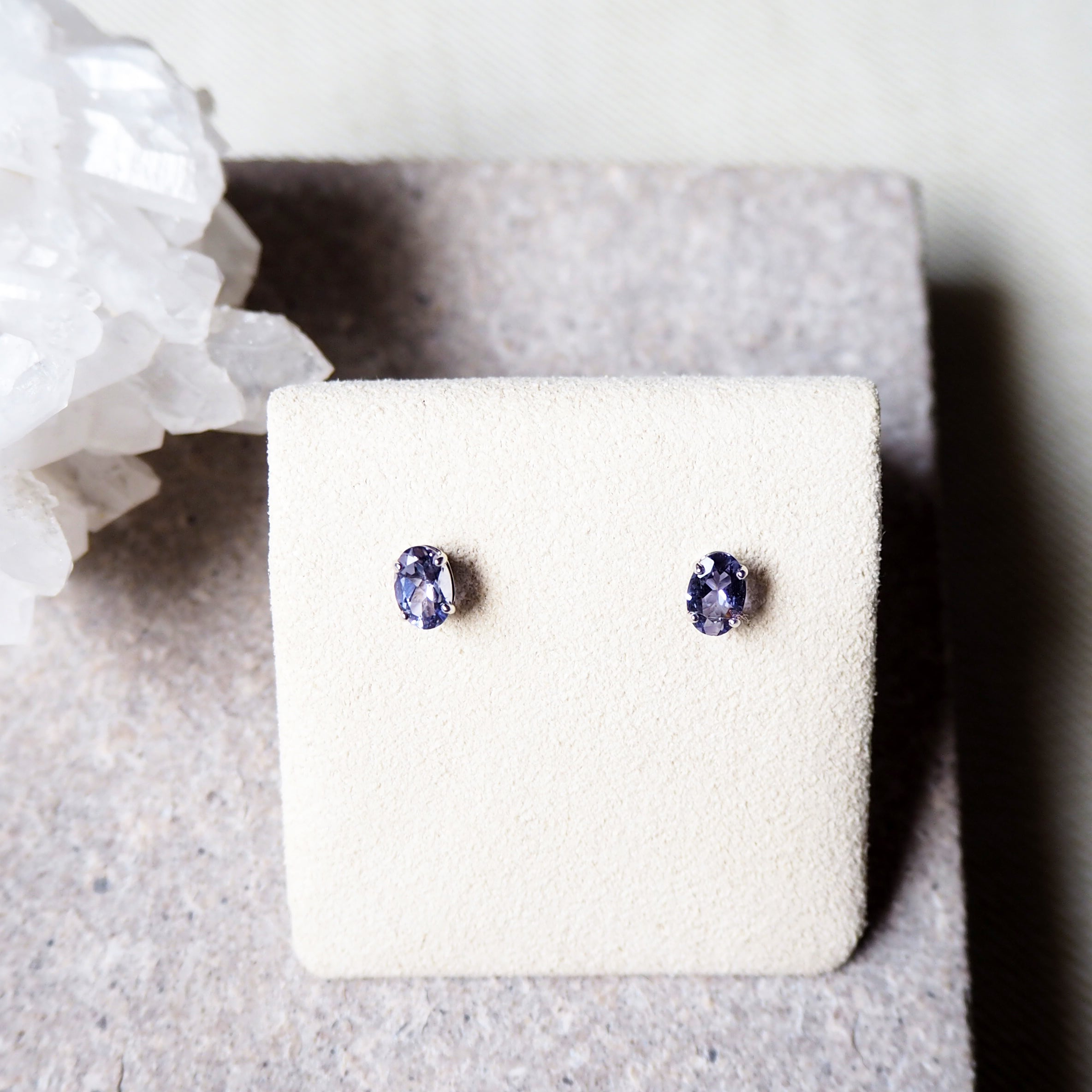 Vera Earrings - Iolite (BACKORDER)