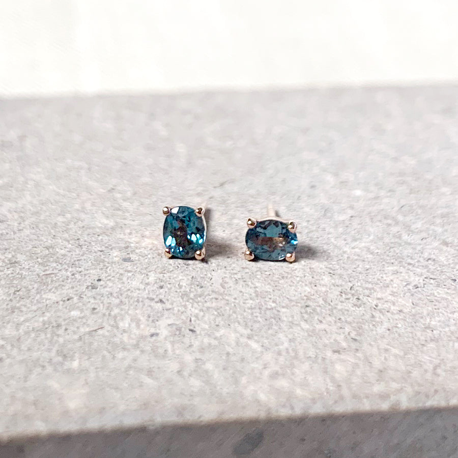 Kaylee Earrings - London Blue Topaz