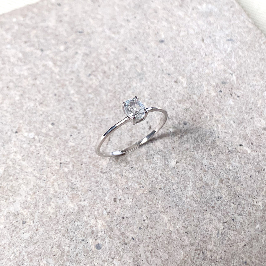 Kaylee Ring - White Topaz