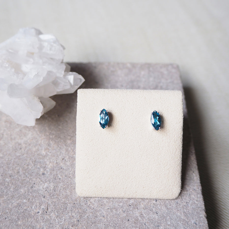 Marquise Earrings - London Blue Topaz