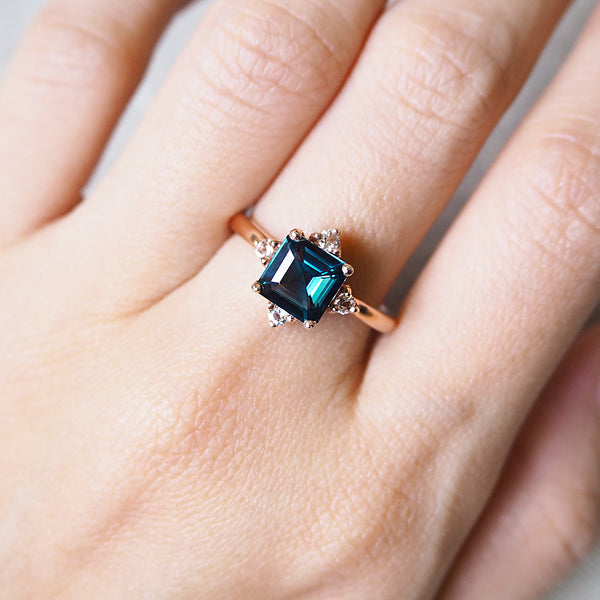 Eira Ring - London Blue Topaz (BACKORDER)