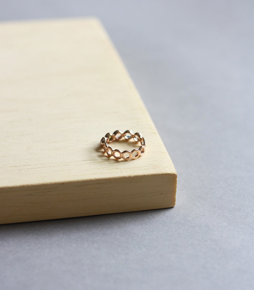 Millie Ring - Mixed Stones in Rose Gold