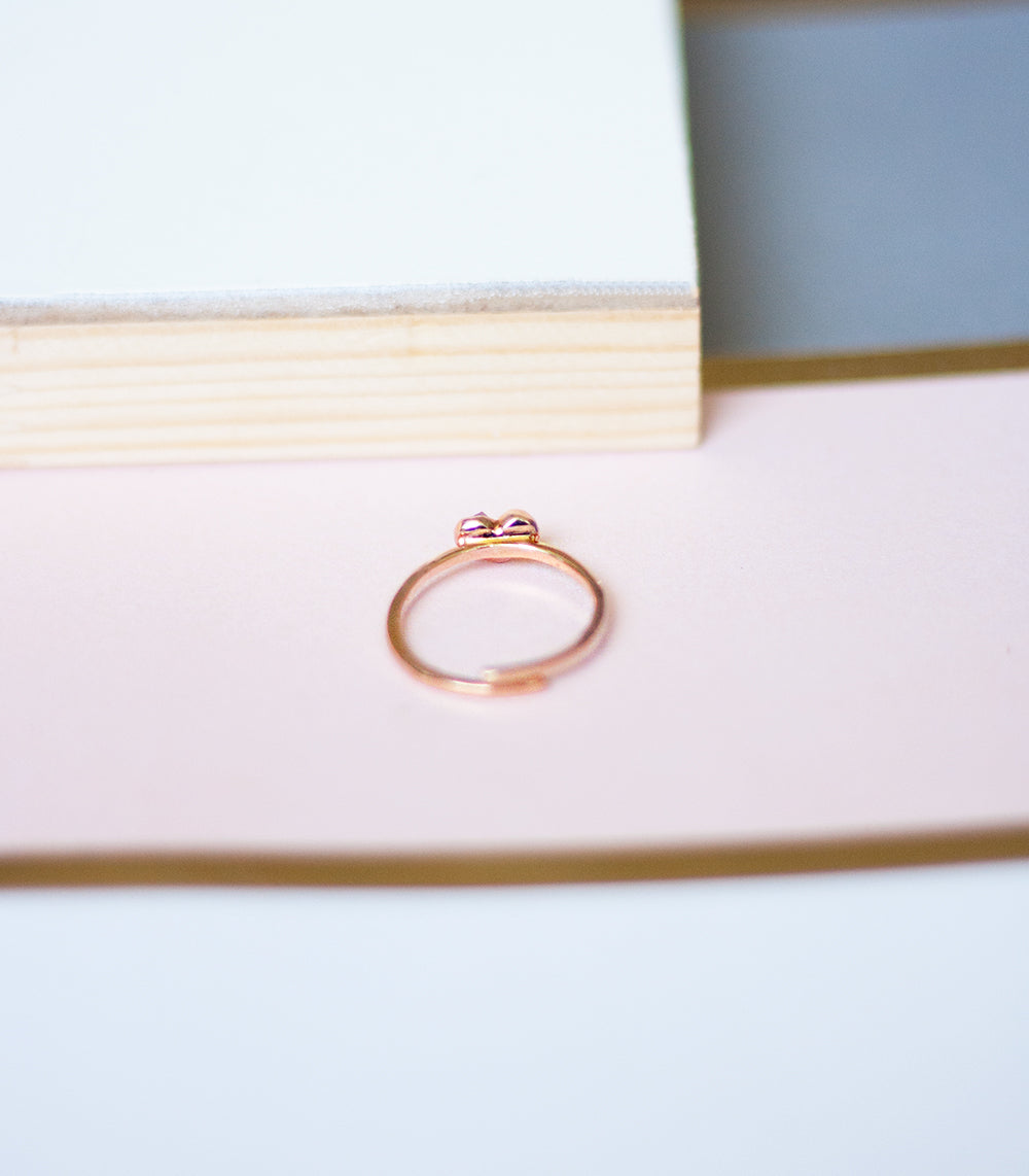 Mini Heart Ring - Rose Quartz (BACKORDER)