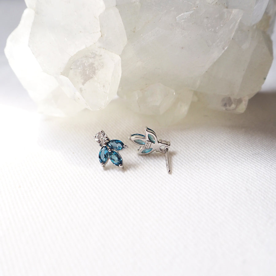 Noel Earrings - London Blue Topaz