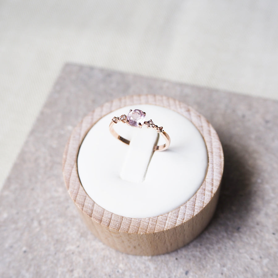Nova Ring - Rose Quartz