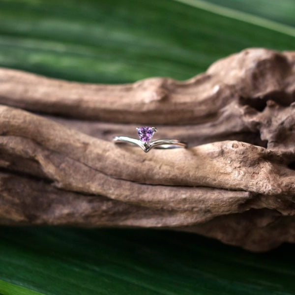 Talia Ring - Amethyst in 925Silver
