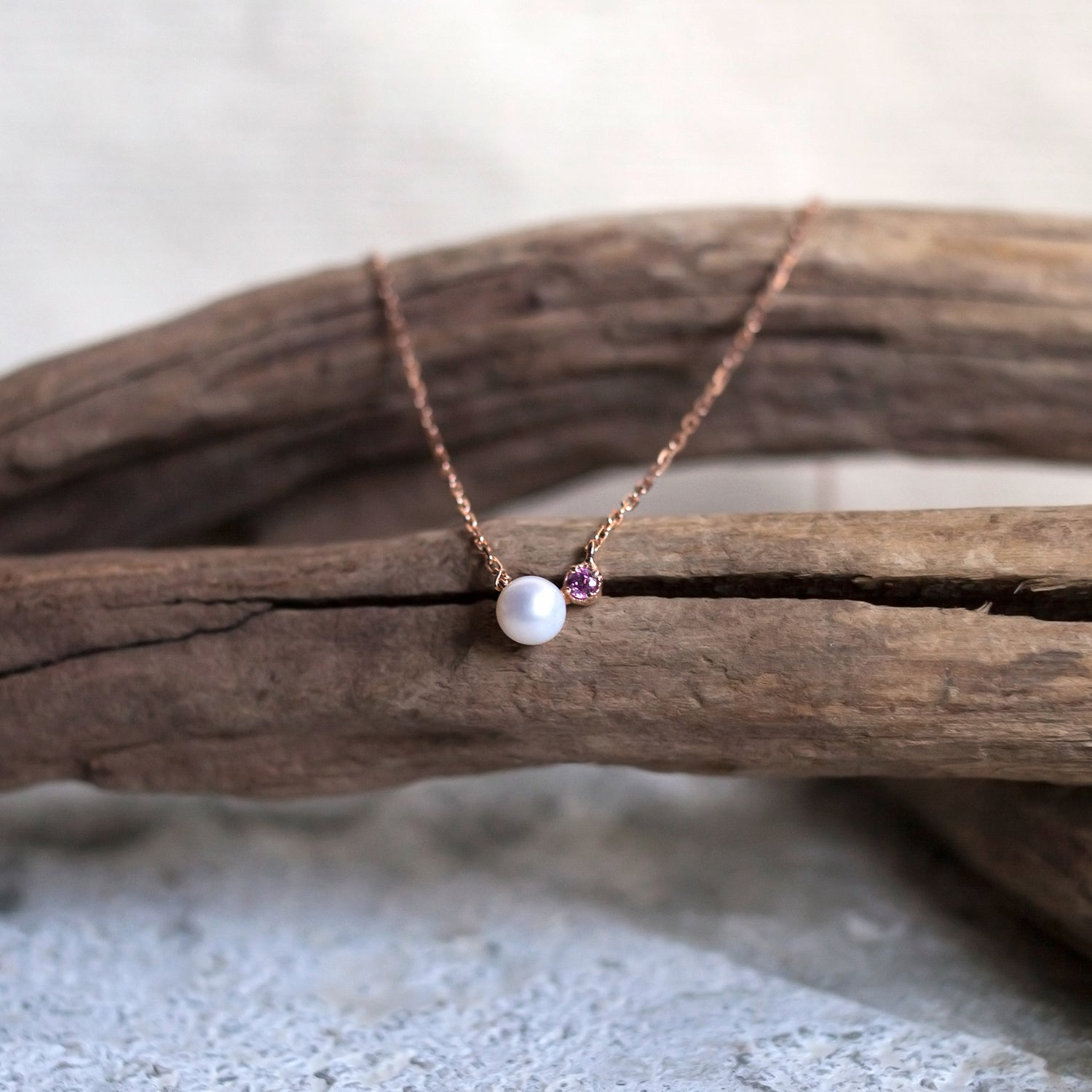 Ariel - Rhodolite Garnet in Rose Gold