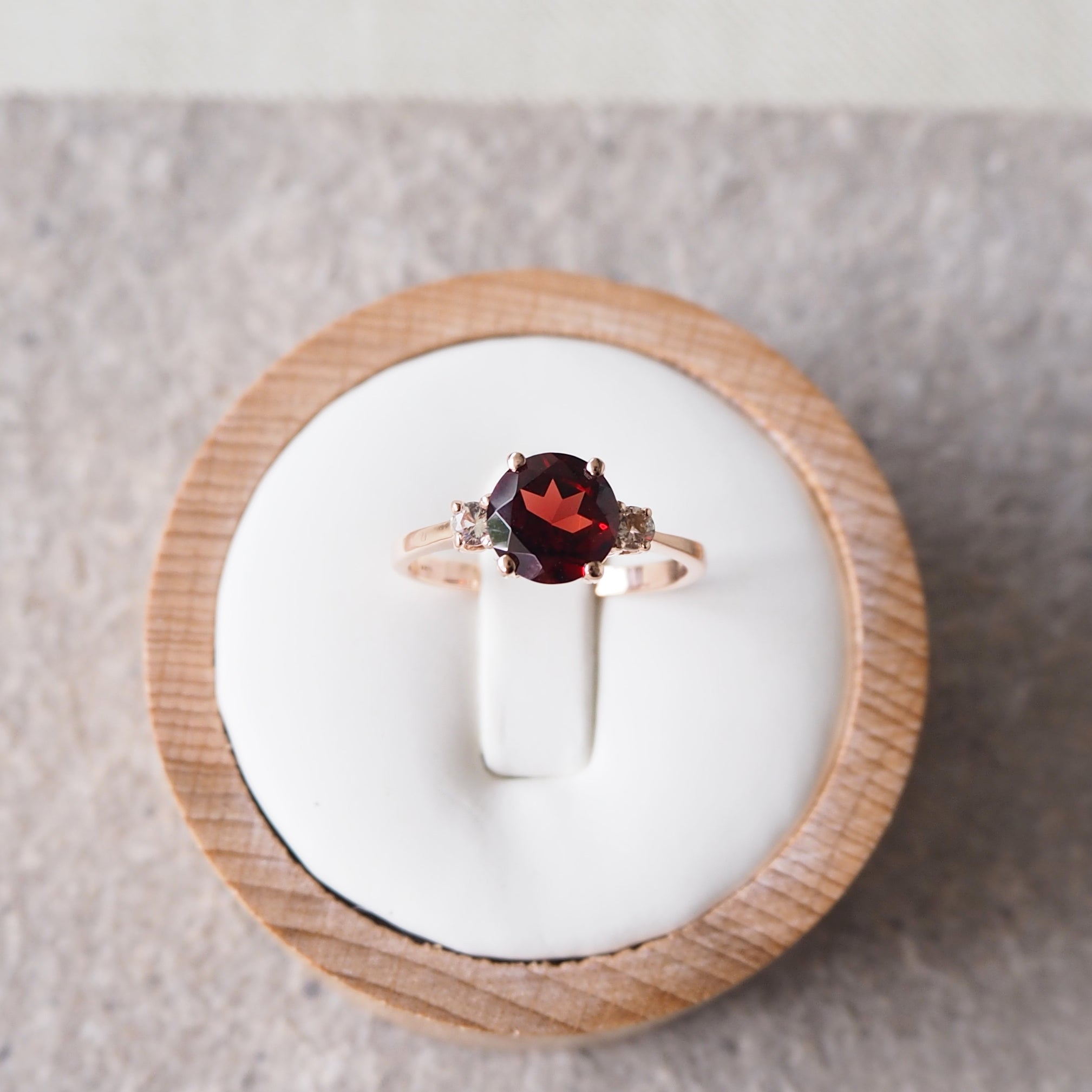 Scarlett Ring - Red Garnet