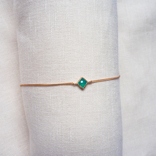 Ever Bracelet - Green Onyx in Rose Gold (BACKORDER)