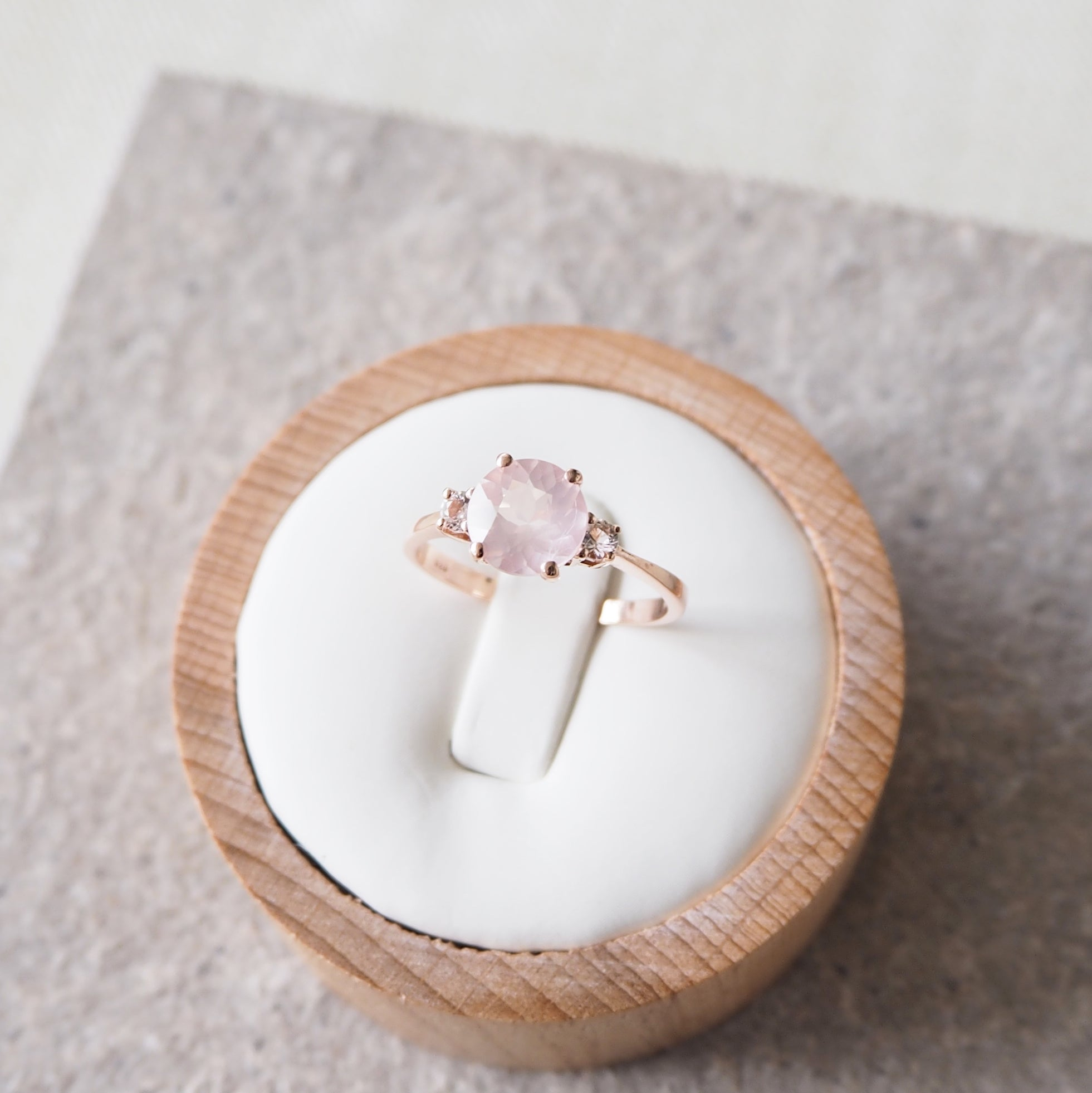 Scarlett Ring - Rose Quartz