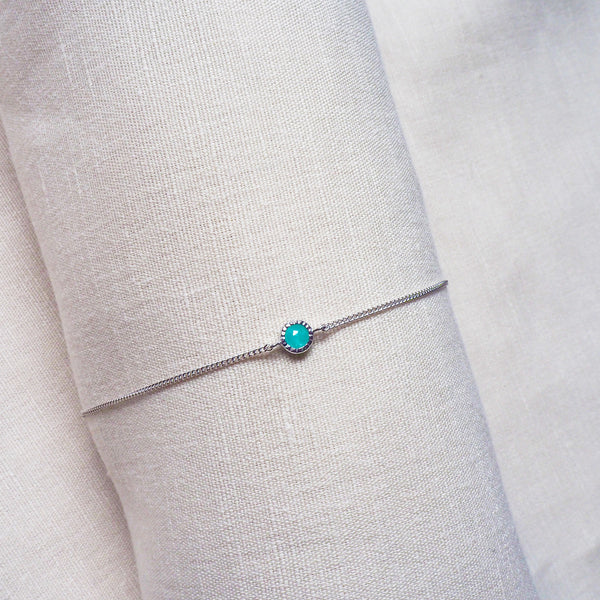 Ever Bracelet (Round) - Amazonite in 925 Silver (BACKORDER)