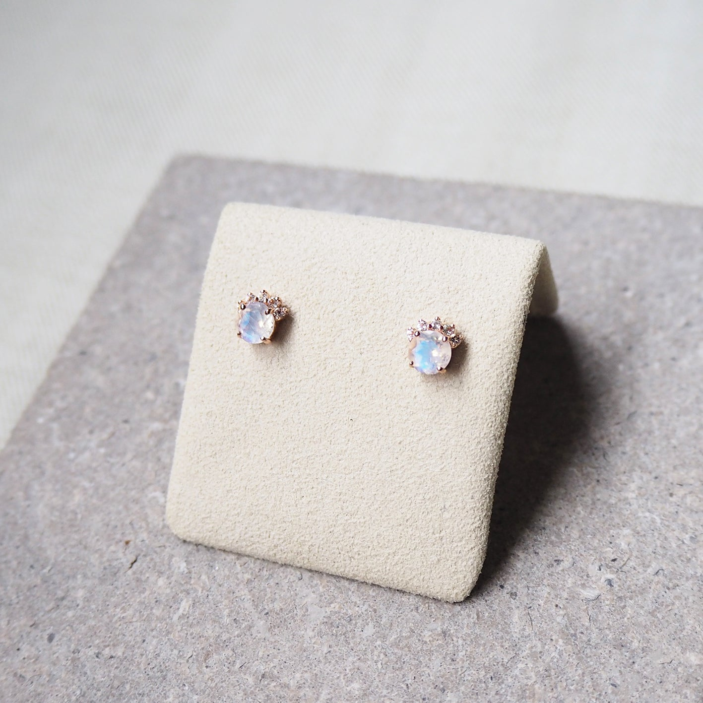 Starry Earrings - Moonstone