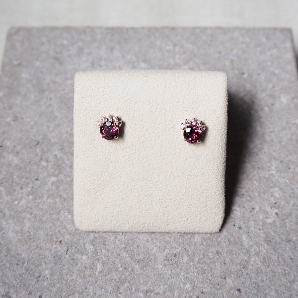 Starry Earrings - Rhodolite Garnet