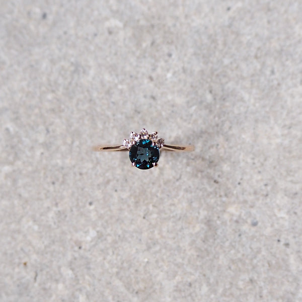 Starry Ring - London Blue Topaz