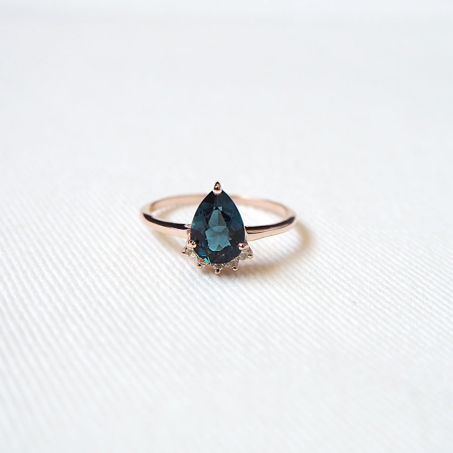 Tealia Ring - London Blue Topaz