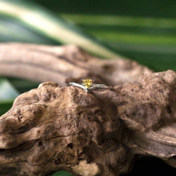 Talia Ring - Citrine in 925Silver