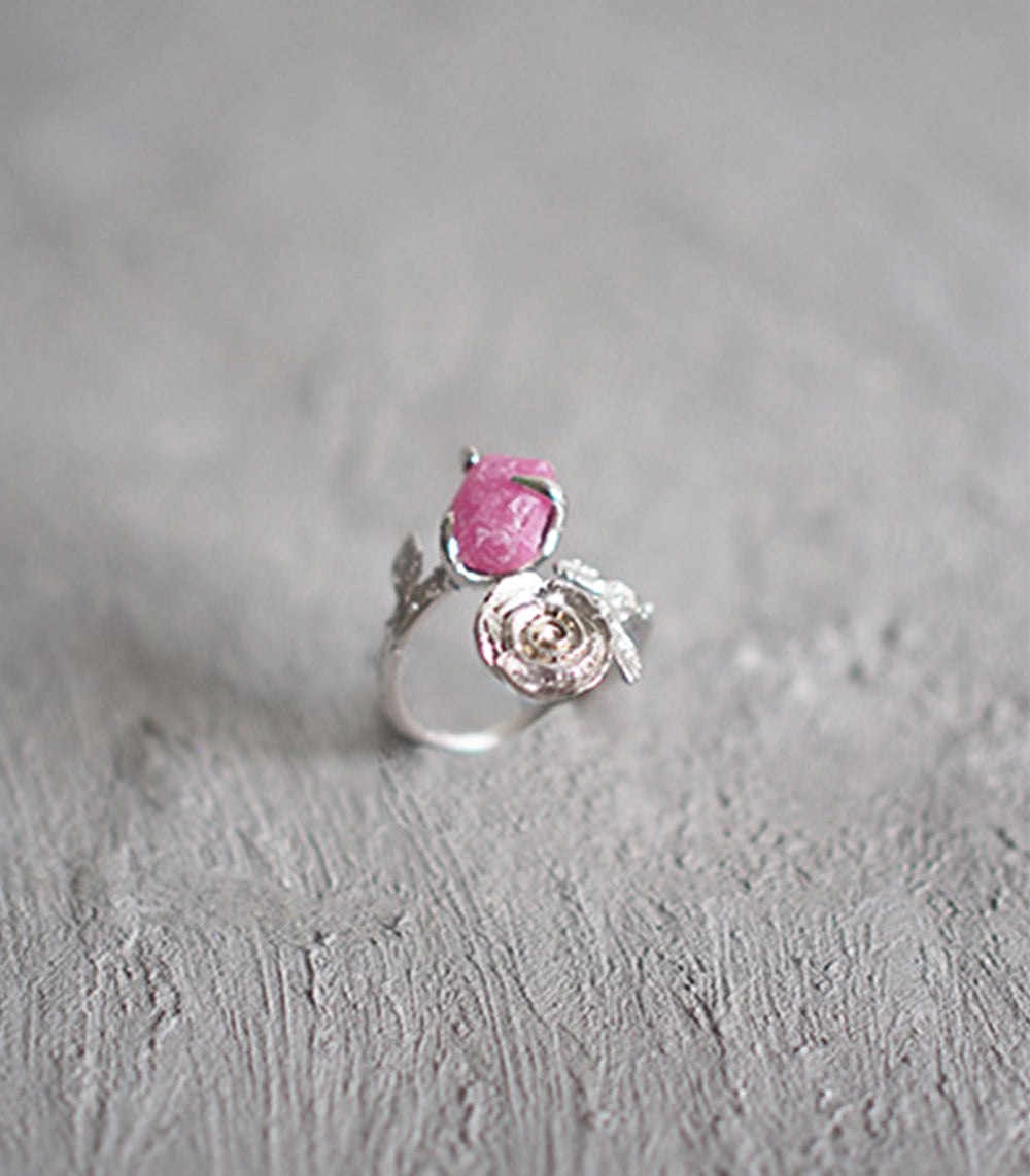 Twist Rose Ring - Tourmaline