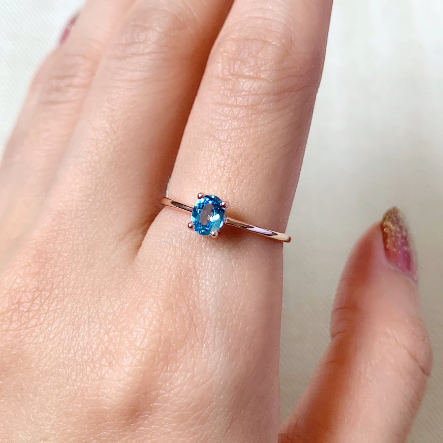 Kaylee Ring - Swiss Blue Topaz