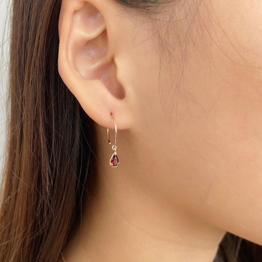 Sandra Earrings - Garnet