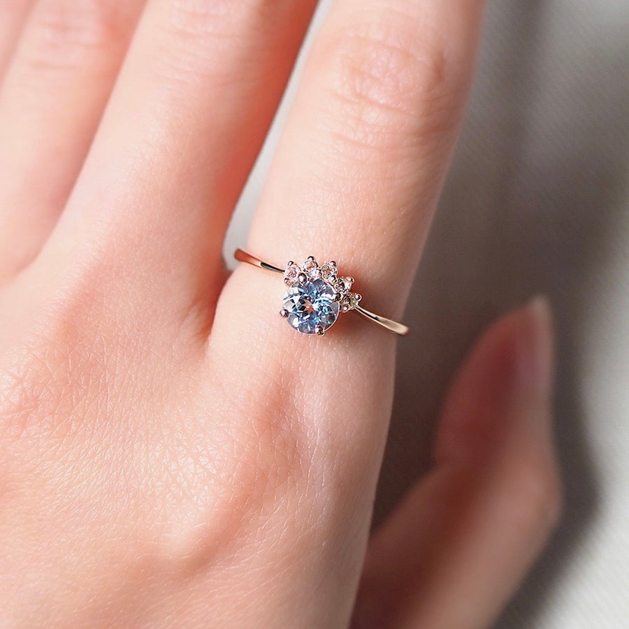 Starry Ring - Sky Blue Topaz