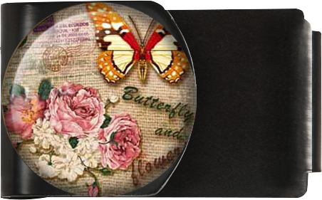 Butterfly and Flowers Vintage