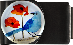 Bluebird with Poppies