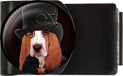 Dog with Black Hat